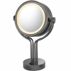 Kimball & Young 5X To 1X Black Nickel Contemporary Four Post Vanity Mirror 71405