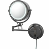 Kimball & Young 5X To 1X Black Nickel Contemporary Wall Mirror 91405
