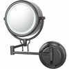 Kimball & Young 5X To 1X Black Nickel Contemporary Wall Mirror 91405HW