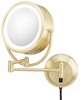 Kimball & Young 5X To 1X Brushed Brass NeoModern LED Lighted Mirror 925135HW