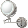 Kimball & Young 5X To 1X Brushed Nickel Contemporary Wall Mirror 91475HW