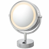 Kimball & Young 5X To 1X Brushed Nickel NeoModern LED Lighted Mirror 72575