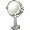 Kimball & Young 5X To 1X Chrome Contemporary Four Post Vanity Mirror 71445