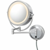 Kimball & Young 5X To 1X Polished Nickel NeoModern LED Lighted Mirror 92585