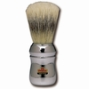 Marvy Shaving Brush Omega Silver Handle Model No. 4