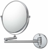 Mirror Image 10X To 1X Chrome Double Arm Wall Mirror 21740