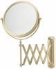 Mirror Image 5X To 1X Brushed Brass Extension Arm Wall Mirror 233135