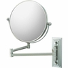 Mirror Image 5X To 1X Brushed Nickel Classic Double Arm Wall Mirror 20875