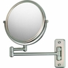 Mirror Image 5X To 1X Brushed Nickel Double Arm Wall Mirror 21175