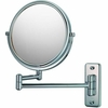 Mirror Image 5X To 1X Chrome Double Arm Wall Mirror 21145