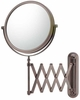 Mirror Image 5X To 1X Italian Bronze Extension Arm Wall Mirror 23315