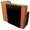 Pibbs 5 Foot Reception Desk In Wild Cherry with Black Accent 5004
