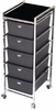 Pibbs 5 Tier Cart With ART69 Topper Black D28BL