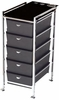 Pibbs 5 Tier Cart With ART70 Topper Black D29BL
