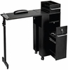 Pibbs Folding Manicure Station Table Black 2009BL