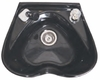 Pibbs Heart Shape Shampoo Bowl With Single Handle Faucet Black 5310