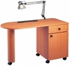 Pibbs Laminated Straight Top Nail Center Table With Lamp & Pad PN1020