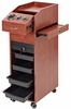 Pibbs Lockable Mobile Station With Casters Wood Laminate D39WD