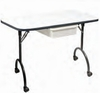 "Pibbs Manicure Table With Foldable Legs 16"" X 31"" White Only 974A"