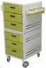 Pibbs Modular Trolley Utility Cart White/Green 2007WG