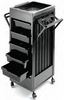 Pibbs Utility Cart Organizer With Side Accessory Holders Black ART89