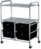 Pibbs Work Cart With 4 Black Storage Drawers D4B