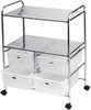 Pibbs Work Cart With 4 White Storage Drawers D4W