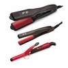 Turbo Power Flat Iron Turbo Tools Ceramic Ionic Nano Mini Trio Set TT102