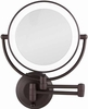 Zadro Cordless LED Lighted 1X/10X Oil Rubbed Bronze Wall Mirror LEDW810