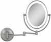 Zadro LED Lighted 10X/1X Oval Satin Nickel Wall Mirror LEDOVLW410