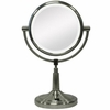 Zadro LED Lighted 5X/1X Satin Nickel Vanity Mirror LEDV45