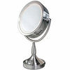 Zadro Lighted 8X/1X Round Satin Nickel Vanity Mirror RDV68