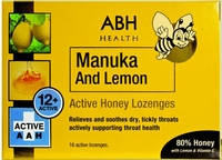 AIRBORNE ABH Manuka Honey & Lemon Lozenges