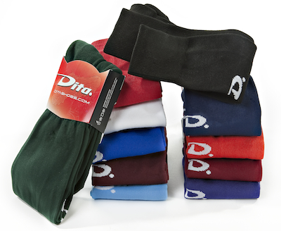 """DITA """"D"""" SOCKS<br>Made In The USA"""