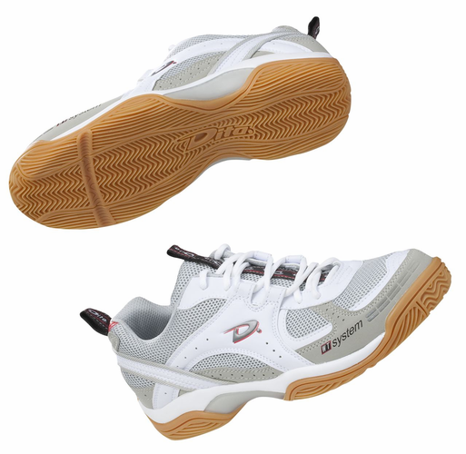 BRILLANT INDOOR HOCKEY SHOES<br>WHITE SHOE with  GUM SOLE