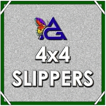 4x4 Slippers, Slip On 4'x4' Nets, Flags, Scrims