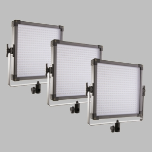 F&V Lighting K4000 3 Light Daylight LED 1x1 Panel Lighting Kit