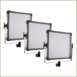 F&V Lighting K4000S 3 Light Bi-Color LED 1x1 Panel Lighting Kit