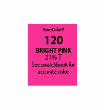 "GAM GamColor 120 Bright Pink Lighting Gel Filter Sheet 20""x24"""