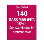 "GAM GAMcolor 140 Dark Magenta Lighting Gel Filter Sheet 20""x24"""
