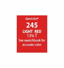 "GAM GamColor 245 Light Red Lighting Gel Filter Sheet  20""x24"""