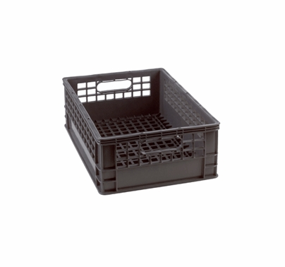 Half Milk Crate 1/2 Grey Storage Bin