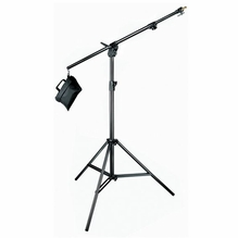 Manfrotto Black Combi-Boom Stand, 3-Section Stand with sand bag 420B