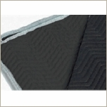 "Premium Sound Blanket  Black on Black 72""x80"" NO Grommets"