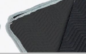 Premium Sound Blanket Furniture Pad Black / Black 72 x 80 w/ Grommets
