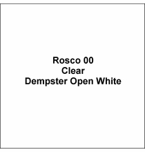 "Rosco 00 Dempster Open White Lighting Gel Sheet 20""x24"""