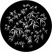 Rosco 77782 Bamboo Leaves Standard Steel Gobo Lighting Pattern