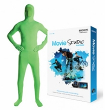 Savage Green Screen Suit w/ Sony Movie Studio Platinum Software Medium
