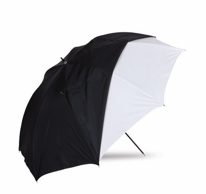 "Westcott 32"" Optical White Satin Umbrella with Removable Black Cover"