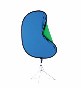 Westcott 5'x6' Reversible Chroma Key Blue Green Screen Kit w/ Stand 5689